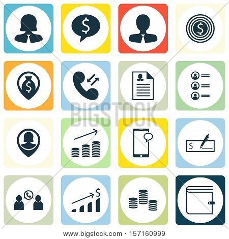 Set Of Human Resources Icons On Business Goal, Female Application And Business Deal Topics. Editable