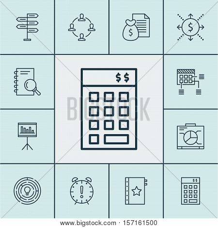 Set Of Project Management Icons On Board, Innovation And Investment Topics. Editable Vector Illustra