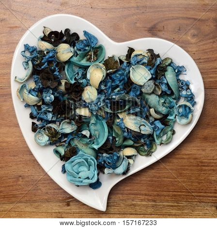 Blue Potpourri Background