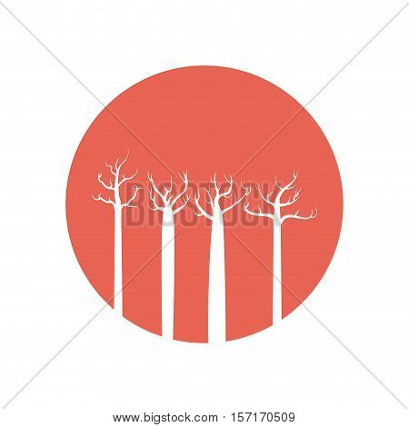 tree forest branch hand drawing isolated icon vector illustration design