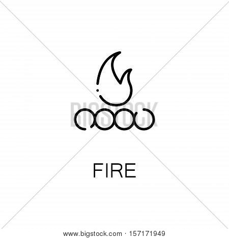 Campfire flat icon. Single high quality outline symbol of camping for web design or mobile app. Thin line signs of ampfire for design logo, visit card, etc. Outline pictogram of campfire