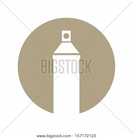 Spray paint bottle isolated icon vector illustration design