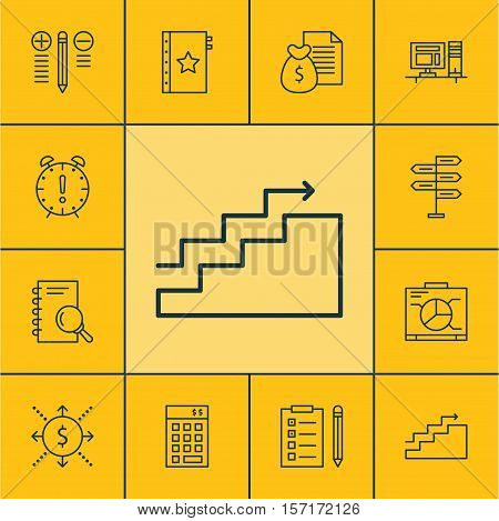 Set Of Project Management Icons On Money, Time Management And Investment Topics. Editable Vector Ill