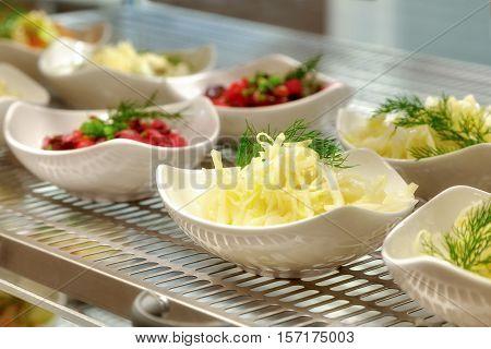 Salads On A Show-window