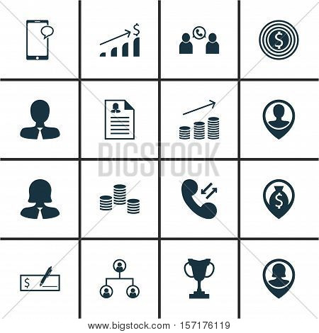 Set Of Hr Icons On Business Goal, Successful Investment And Tree Structure Topics. Editable Vector I