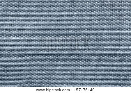 rough texture of fabric or textile material for a background or for wallpaper of silvery blue color