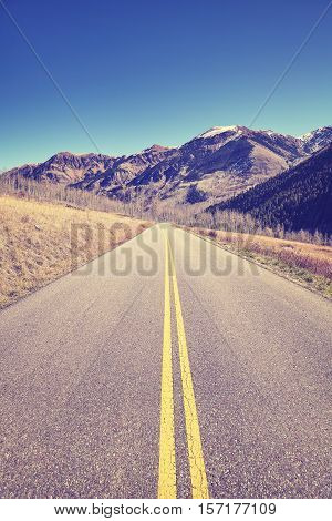 Vintage Toned Mountain Road.