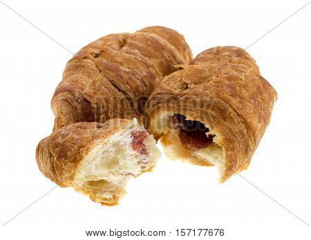 Fresh croissant isolated on white background .
