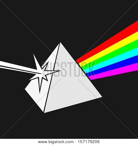 Prism and Ray of light Vector Illustration
