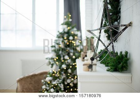 Christmas Interior Eco Style Bokeh