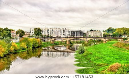 View of the Adour River in Dax - France, Landes department