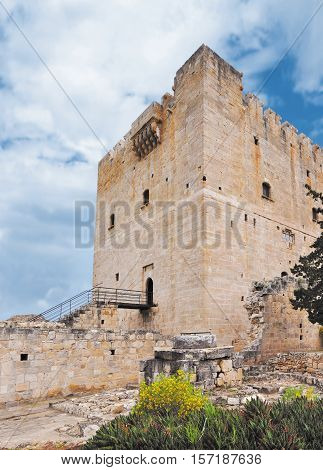 Medieval Colossi castle in the Mediterranean iscland Cyprus