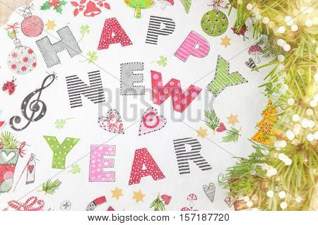 Decoupage New Year Decorations Made Of Paper