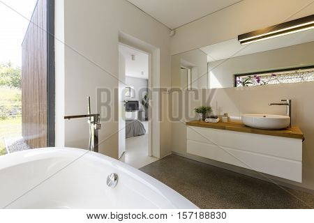 Modern Spacious White Bathroom