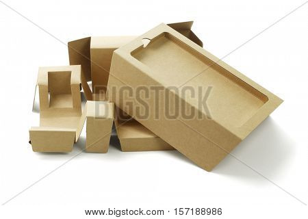 Smart Phone Packaging Cardboard on White Background