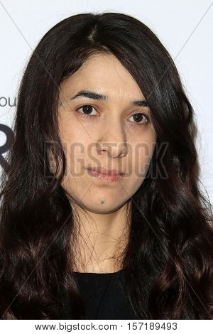 LOS ANGELES - NOV 14:  Nadia Murad at the Glamour Women Of The Year 2016 at NeueHouse Hollywood on November 14, 2016 in Los Angeles, CA