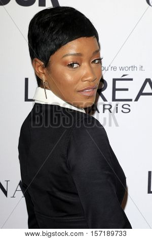 LOS ANGELES - NOV 14:  Keke Palmer at the Glamour Women Of The Year 2016 at NeueHouse Hollywood on November 14, 2016 in Los Angeles, CA