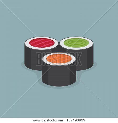 Roll illustration. Flat style. Flat style. Vector Illustration.