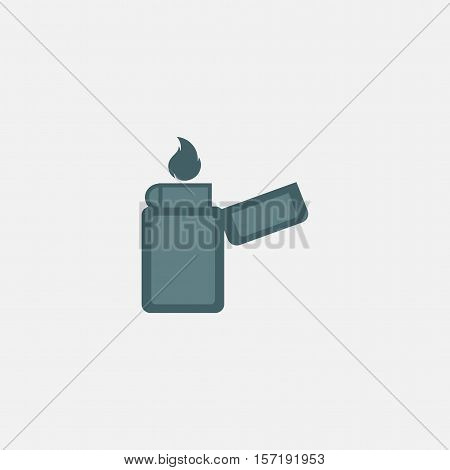 lighter icon vector isolated on white background. manual, gas lighter with a burning flame icon
