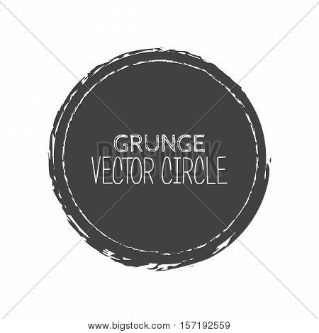 Vector Grunge Circle. Element For Your Design. Rubber Stamp Texture. Distress Border Frame