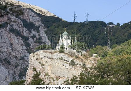 Foros Church of the Resurrection at the Red Rock. Crimea.