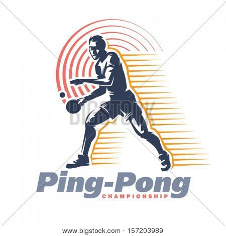 Ping-Pong. Sport emblem