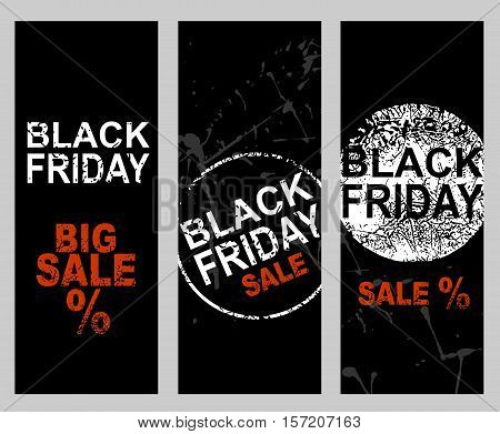 set of banners. Black Friday Sale price banner.