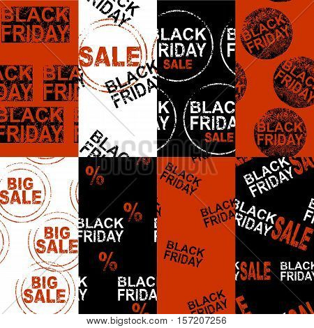Vector seamless pattern. Black Friday Sale price.
