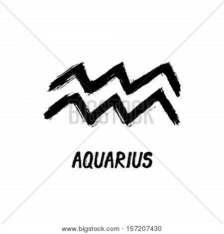 Grunge Zodiac Signs - Aquarius - The Water-Bearer