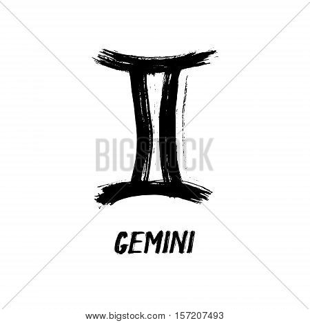 Grunge Zodiac Signs - Gemini - The Twins