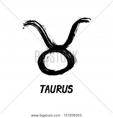 Grunge Zodiac Signs - Taurus - The Bull