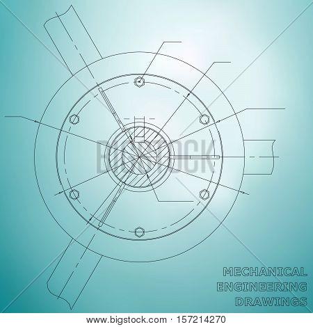 Mechanical engineering drawings. Mechanical Engineering illustration. blueprint