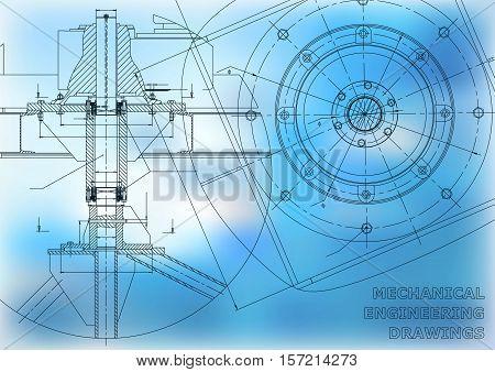 Mechanical engineering drawings. Mechanical engineering Vector background