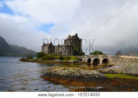 Pretty Loch Duich surrounding Eilean Donan Castle.