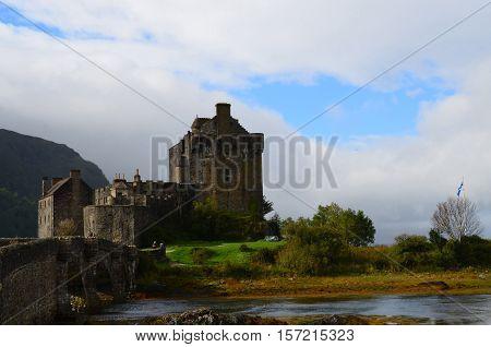 Pretty Eilean Donan landscape on Loch Duich in Scotland.