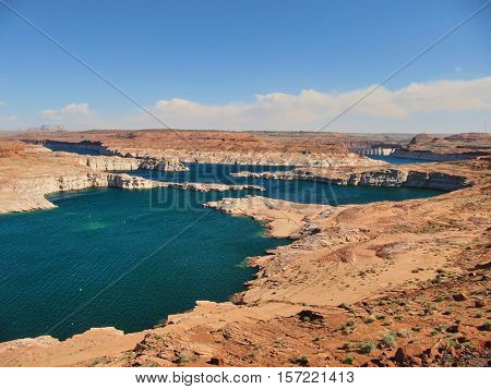 The Lake Powell and its wonderful colors.