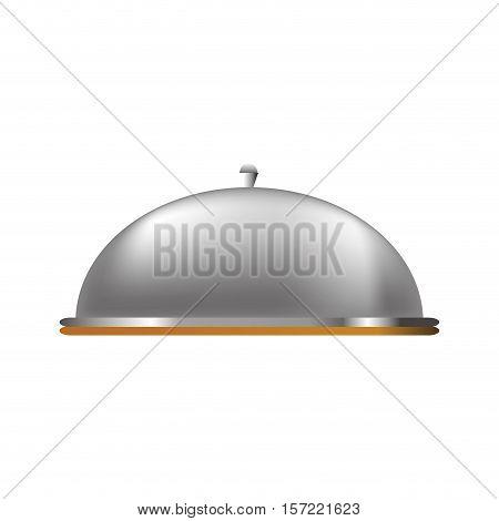 restaurant dome cloche icon vector illustration graphic design