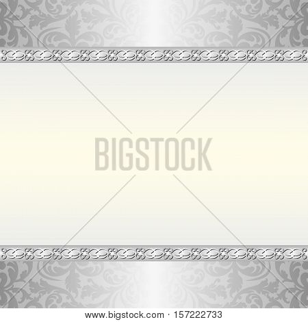 antique background with ornaments and copy space