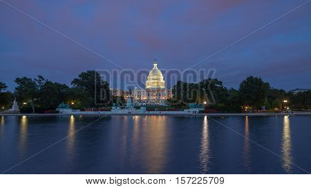 The Us Capitol In Washington Dc Landscape
