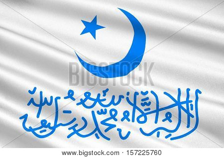 Flag of Xinjiang officially the Xinjiang Uyghur Autonomous Region is an autonomous region of China. 3d illustration