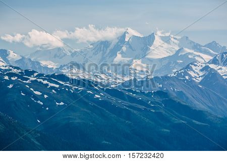 The Dom Peak Visible From Furka Pass, Switzerland