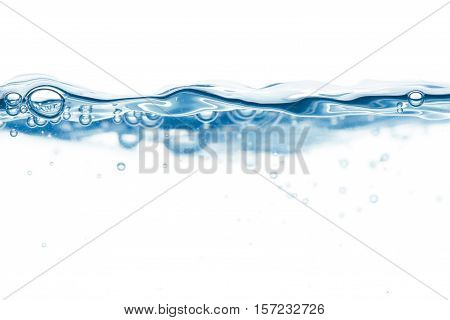 Steady Water Surface With Bubbles