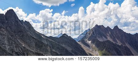 View from Alpen - border of Austria and Italy