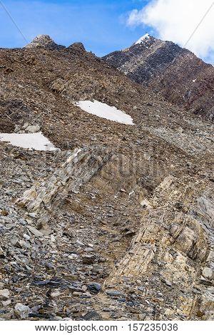 View from Zillertaler Alpen on Hochfeiler or Gran Pilastro