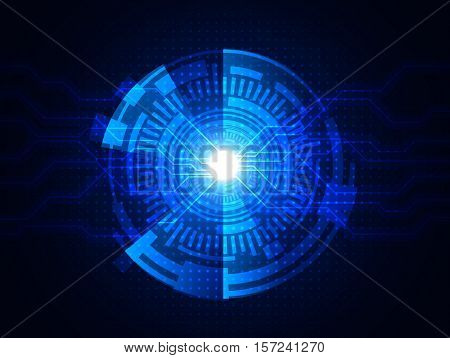 Vector digital technology concept abstract background EPS10