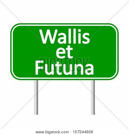 Wallis et Futuna road sign isolated on white background.