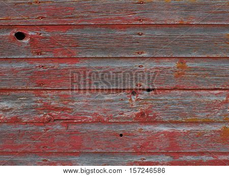 A closeup view of old weathered barn boards for background use.