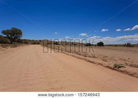 Panorama from Kgalagadi National Park South Africa