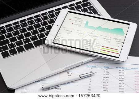 Business Analytic With Tablet Pc