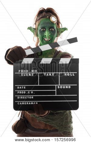 Goblin Or Imp Holding A Clapperboard